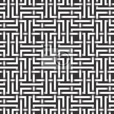 Bild Monochrom nahtlose Muster von Rechtecken geformt Twisted Bands. Zusammenfassung wiederholbaren Hintergrund.