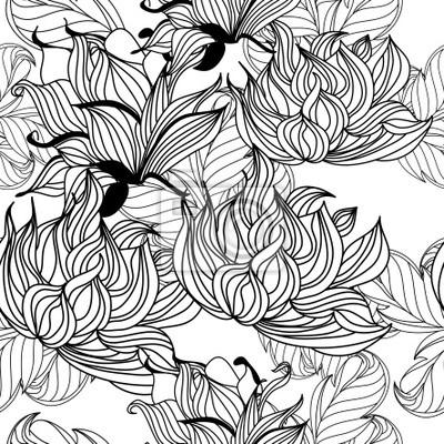 Monochrome nahtlose Muster