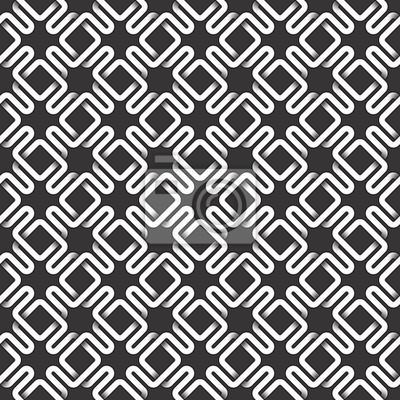 Bild Monochrome nahtlose Muster von verflochtenen Streifen. Zusammenfassung wiederholbaren Hintergrund.