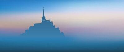 Bild Mont Saint Michel - panoramique - aube