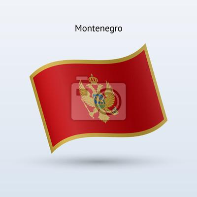 Montenegro Fahnenschwingen Form. Vektor-Illustration.