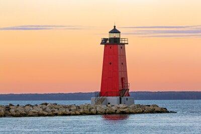 Bild Morgen um Manistique Leuchtturm