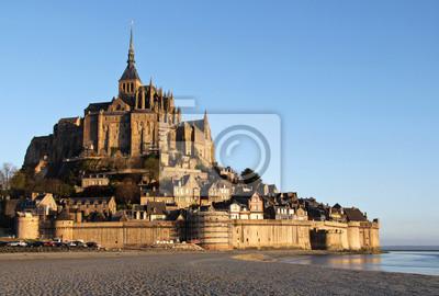 Morgenlicht über Mont Saint Michel