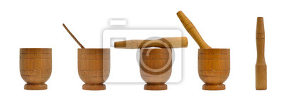 Mörser aus Holz, Geschirr