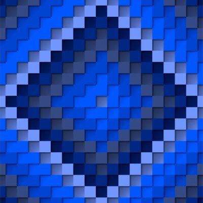 Bild Mosaic of monochrome flowers. Mosaic Blue. Monochrome colors. Blue. Squares. Stock illustration. Vector illustration.