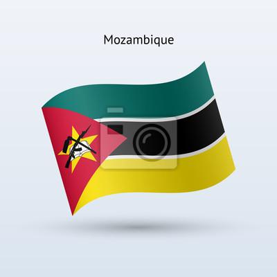 Mosambik Fahnenschwingen Form. Vektor-Illustration.