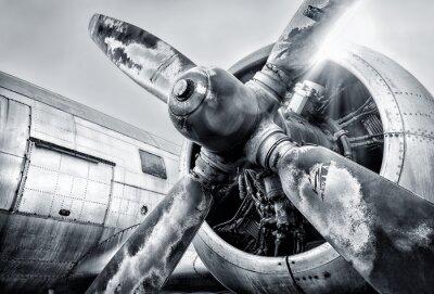 Bild Motor eines Flugzeugs