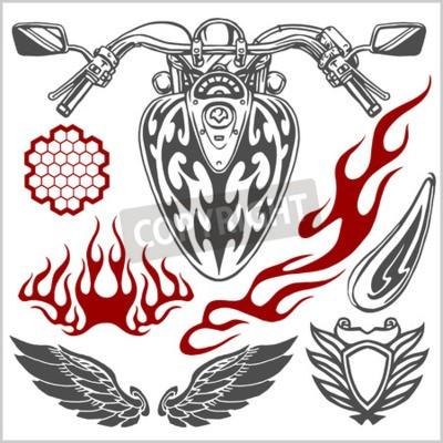 Bild Motorcycle Vector Elements - Vektor gesetzt.