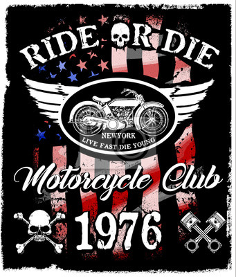 Bild Motorrad Aufkleber T Shirt Design Mit Abbildung Der Benutzerdefinierten