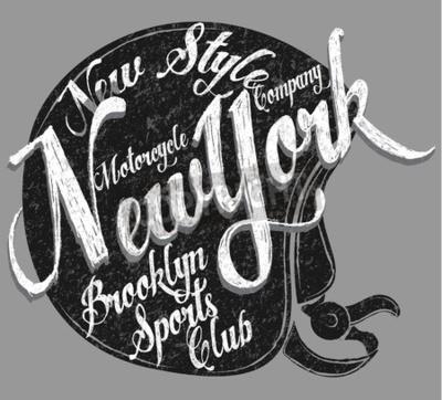 Bild Motorrad Helm Typografie New York Sports Club