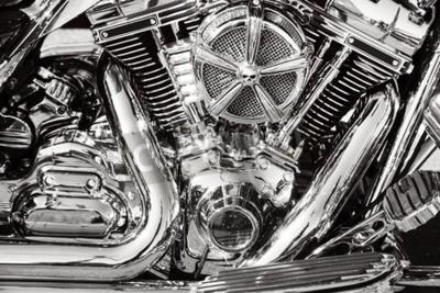 Bild Motorrad mit Chromteilen
