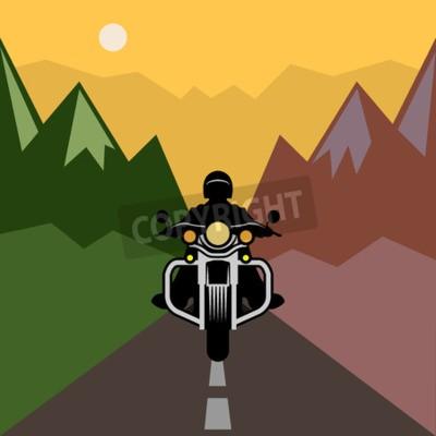 Bild Motorradabenteuer, Vektorillustration
