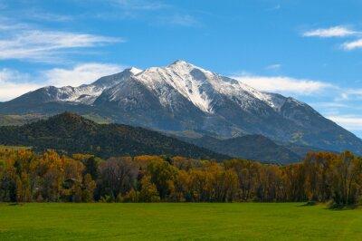 Bild Mount Sopris Elk Mountains Colorado - Fall colors