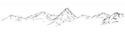 Bild Mountain sketch. Handdrawn illustration isolated on white background