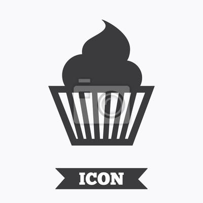 Muffin Zeichen Symbol Kuchen Symbol Leinwandbilder Bilder App