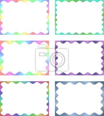 Multi farbigen Rahmen Sammlung