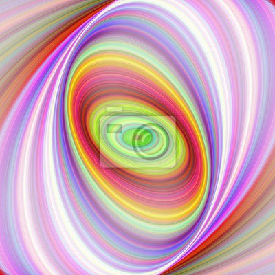 Multicolored elliptical fractal art background