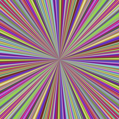 Multicolored vector ray burst motion background