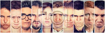 Bild Multiethnische Gruppe von wütend sauer von Menschen Männer und Frauen