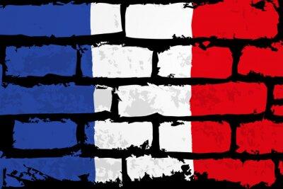 Bild mur flaga francji wektor