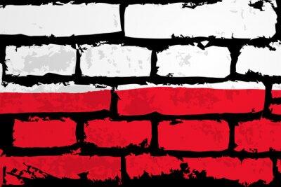 Bild mur flaga polska wektor