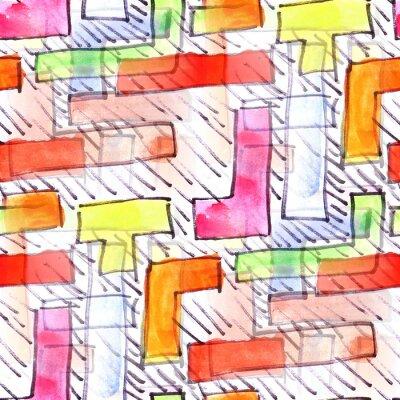 Bild Mural  colored stripes background seamless pattern