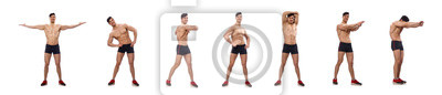 Bild Muscular man isolated on the white background