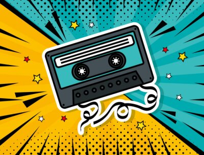 Bild music cassette pop art style vector illustration design