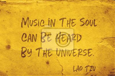 Bild music in the soul Lao Tzu