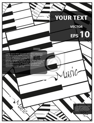 Musik Poster Dekoration, Vektor-Illustration