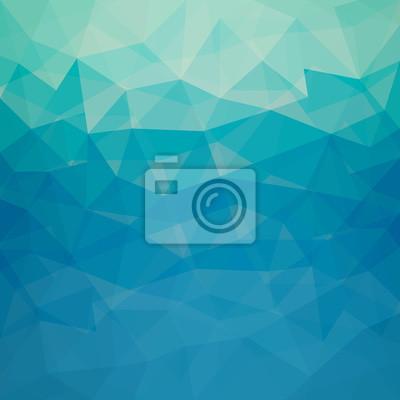 Bild Muster aus blauen geometrischen Formen - Vector