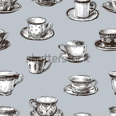 Bild Muster der Teetassen