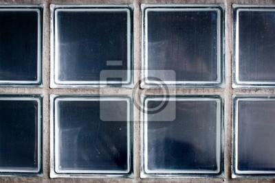 Muster der wand aus glasbausteinen leinwandbilder • bilder ...