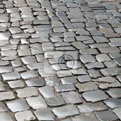 bild muster von nassen pflastersteine - Pflastersteine Muster Bilder