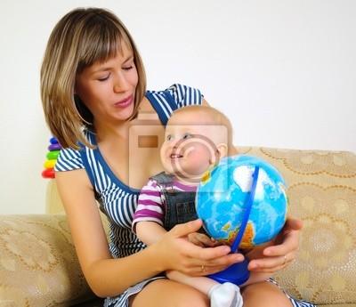 Mutter und Sohn Spaß zusammen