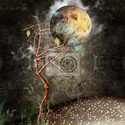 Nacht mit Baum