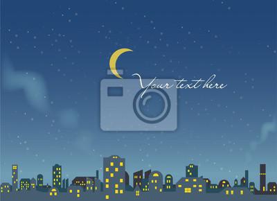 Nacht-Szene - Stadt Hintergrund - Vektor