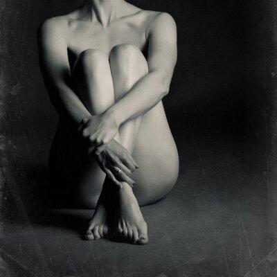 Bild Nackte sitzende Frau