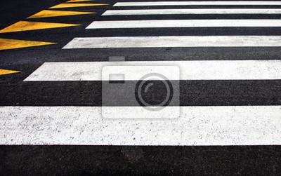 Nahaufnahme der Fußgängerüberweg