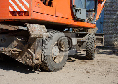 Bild Nahaufnahme eines Traktorrads