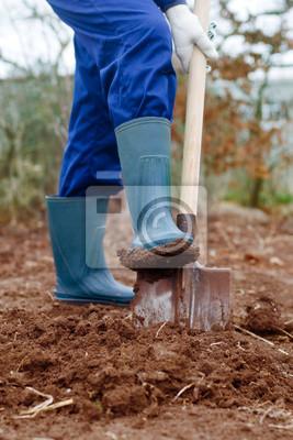 Nahaufnahme von einem Graben