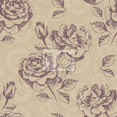 Nahtlose Blumenmuster mit Rosen