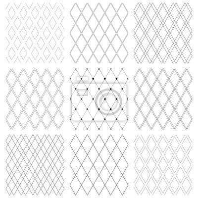 Nahtlose Diamantenmuster.  Geometrische Gittertexturen.