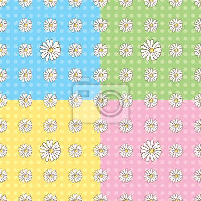 Bild Nahtlose Gänseblümchen-Muster