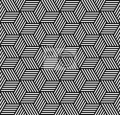 Nahtlose geometrische Muster im Op-Art-Design.