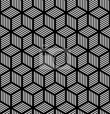 Nahtlose geometrische Textur im Op-Art-Design.