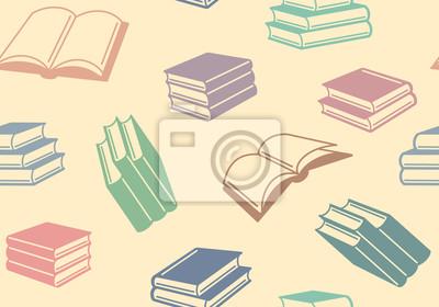 Nahtlose Hintergrund mit Bücher