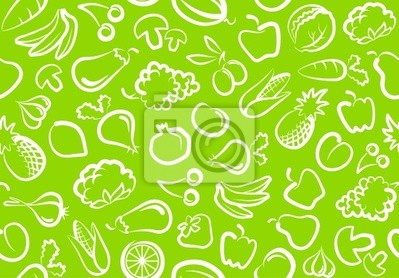 Nahtlose Hintergrund mit Gemüse und Obst