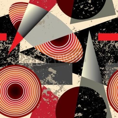 Bild Nahtlose Hintergrund pattern.Abstract Muster in Kubismus-Stil