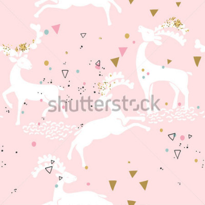 Bild nahtlose Hirsch Muster